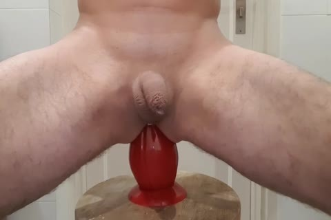 This butthole-plug Is truly giant And that man Likes It