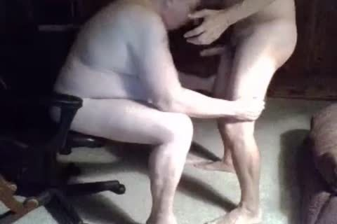 grandpa engulf On webcam