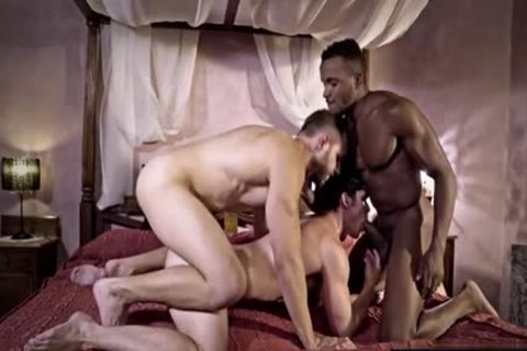 large 10-Pounder gay threesome And ejaculation