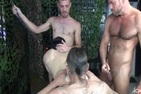 sexy bare Foursome gang group-sex