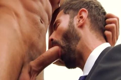 big penis gay fellatio-service And Facial