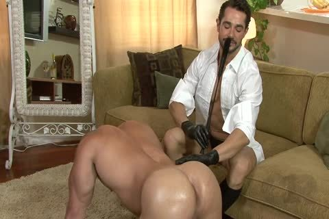 gorgeous man On All Fours Used By Other man In Gloves