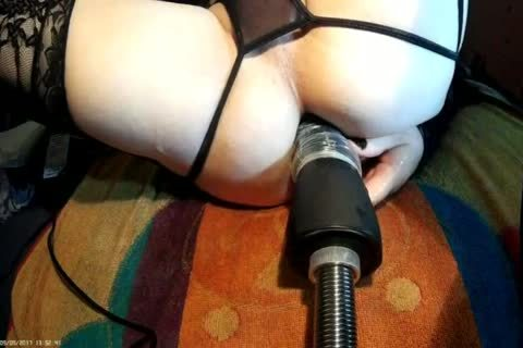 Fi Fi In darksome With fucking Machine HAND dildo FRONT