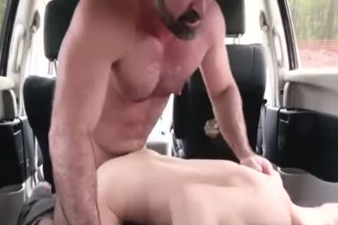filthy Daddy hammers His Step Son In A Car - FAMI