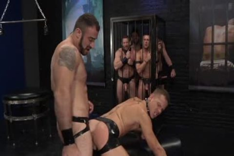 1-4 7 Leather gang group-sex