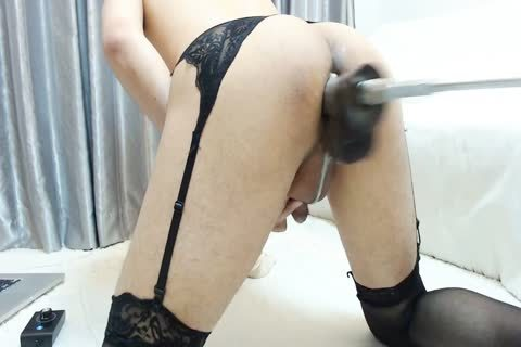 pounding Machine Hard Japanese Crossdresser Part1