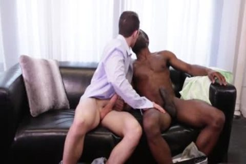 large penis homo Interracial With cream flow