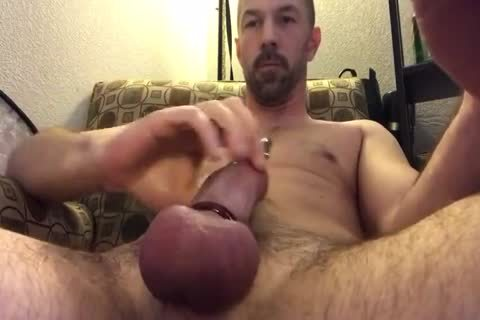 admirable Closeup Of Me Playing With My Pierced dick