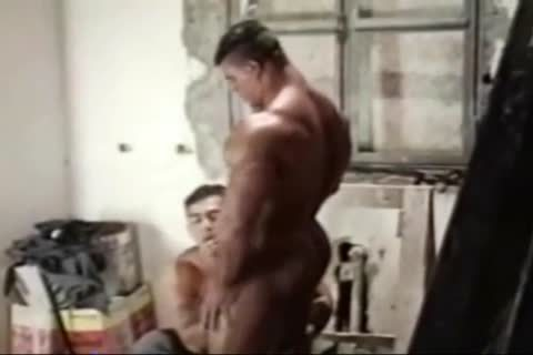 Brasil Bodybuilders large arse banged By Hunk