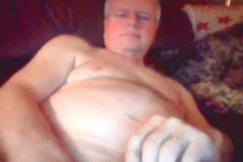 grandad wank On web camera