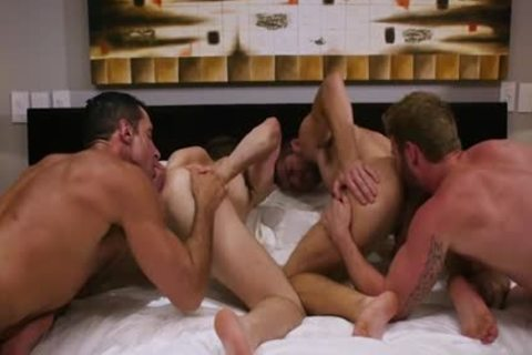 large ramrod Son Foursome And sperm flow