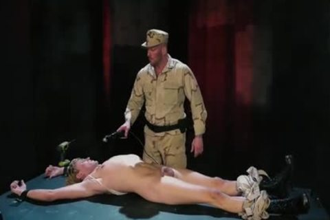 Tattoo Military Fetish With spunk flow