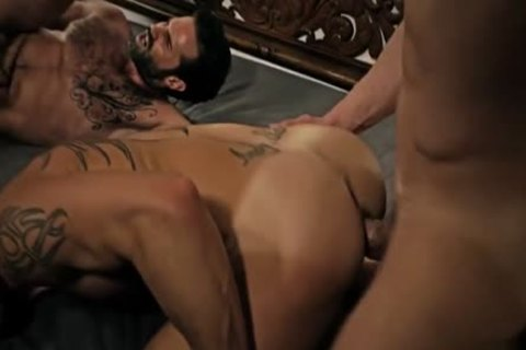 Tattoo homosexual anal sex With cream flow