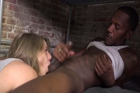 gigantic 10-Pounder twinks Interracial And Facial sperm