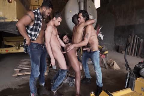 Four males Take On One Mans arse And Him