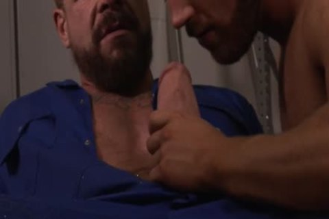 large 10-Pounder homosexual fake penis And cumshot