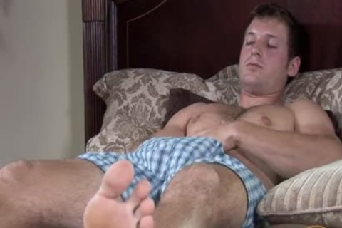 Billy Strokes His cock