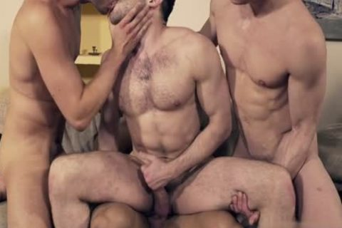gorgeous homo double penetration And Facial