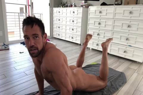 Muscle Hunk Stretching undressed
