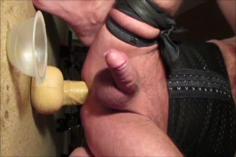 Crossdresser Balls unfathomable 13 Inch big fake penis Prostate Milking