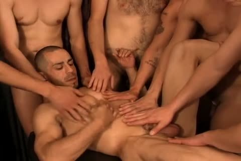 A group Of gay friends All nailing together