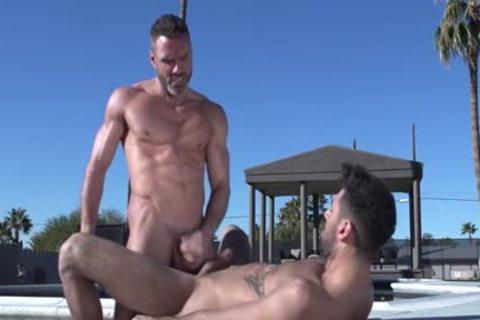 Muscle Bear butthole And ejaculation