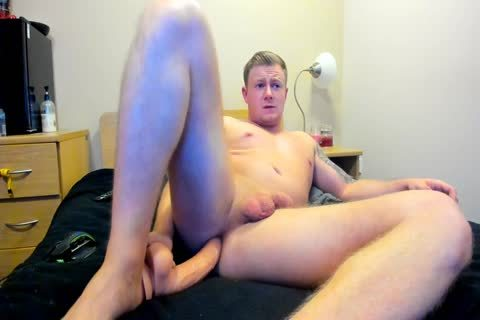 beefy British lad Plays With dildo On web camera