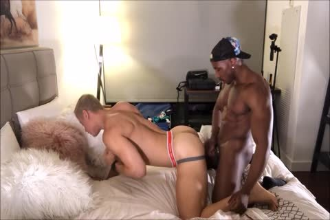 blonde Interracial ass banging And arse Licking