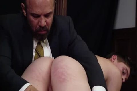 MormonBoyz - Priest Daddy Spanks 10-Pounder wazoo Bent Over Knee