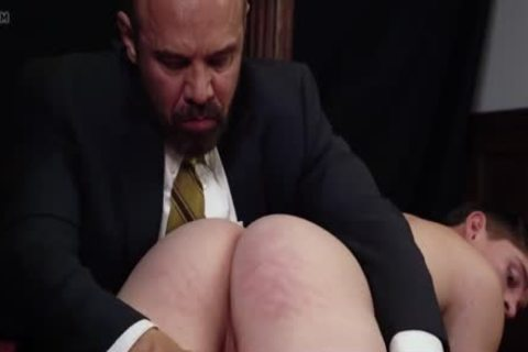 Being Spanked And Having A dildo Inserted By Daddy