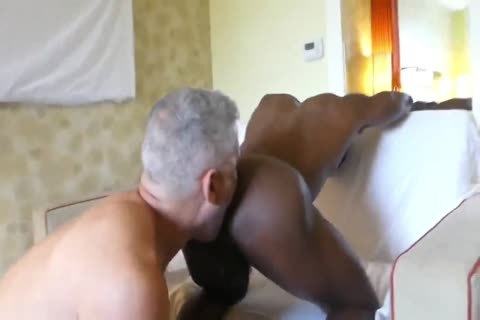 Hung White daddy taut darksome booty