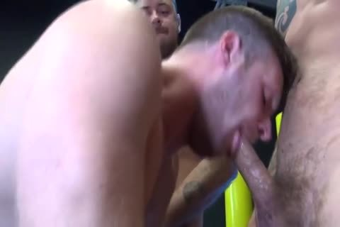 concupiscent Bottom Takes On Three wild studs With biggest penises