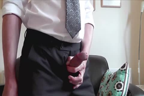 A nasty dilettante handjob By Himself At Home