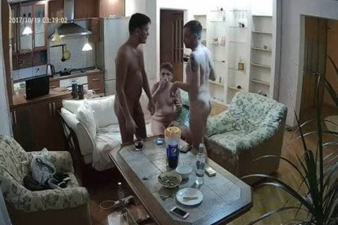 beautiful Voyeur homosexual threesome With a lot of oral