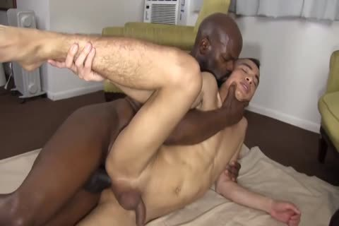 black Daddy Chokes A lad With His dick