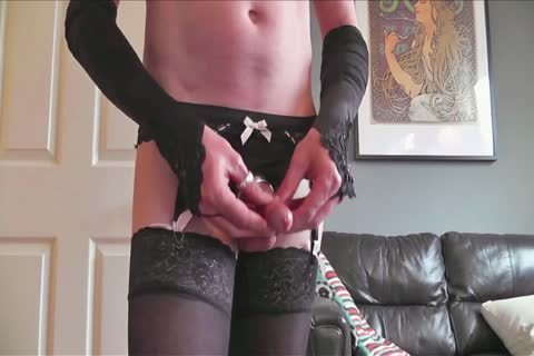 FF And Lacetop stockings Suspenders panties Pose Play & sperm