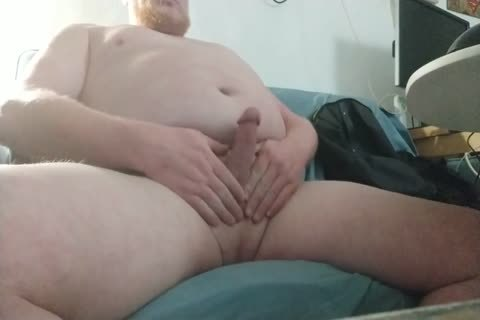chubby, bi-sexual, Ginger Bear Masturbates And cum - video 10