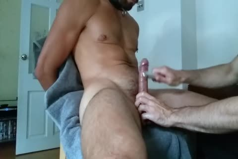 muscular guy Is Getting Edged