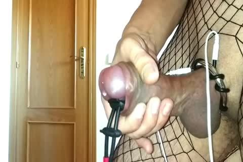 Fishnet + Cockring 2 Electrostimulator Urethra Sound  Pump