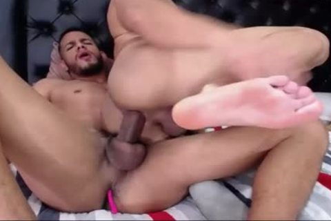 gay couple Sucks large ramrod And pounds Hard butthole bare