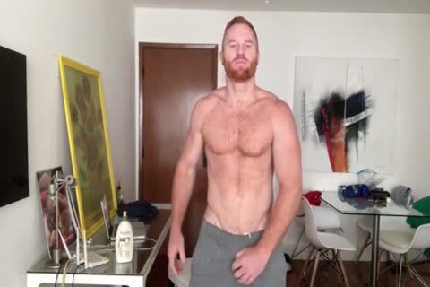 Furry Ginger Hunk Stroking