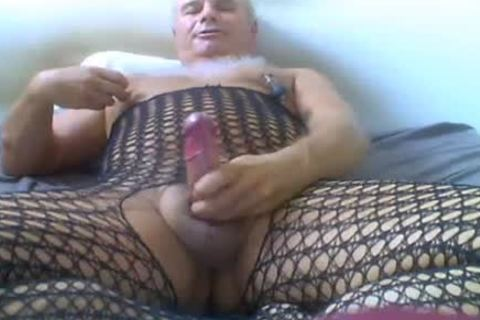 older man Love Wearing filthy underclothing, And Ride sex tool