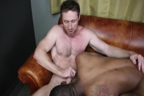 dark On White nailing bare, Cumming Inside And Eating sperm