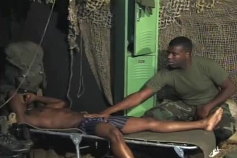 lustful Soldiers Share A peculiar moment jointly