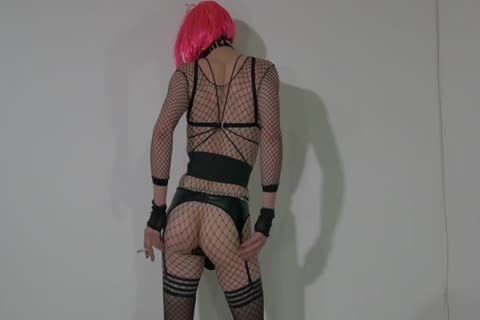 lustful Crossdresser Partying At Home In lewd Outfit