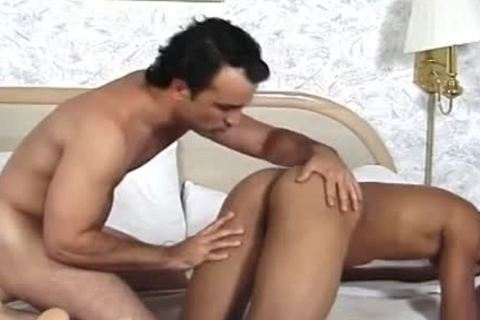 hirsute White man Licks Whipped ball batter Off A Brown booty