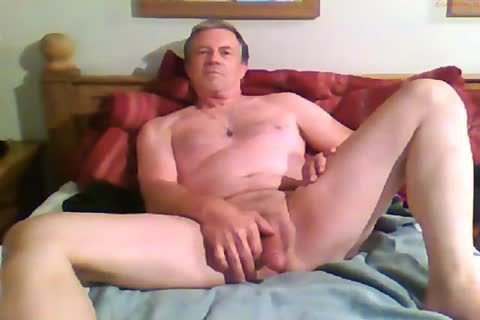 monstrous Dicked dad jerking off 012