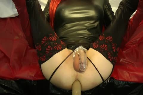Redhead Sissy acquires pounded With Chastity Belt