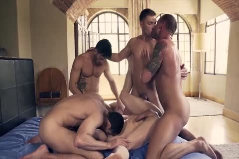 large Muscled And Tattooed homosexuals Likes ass stab