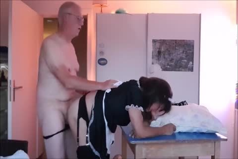 Maid Sissy Cleans house Sucks ramrod gets boned